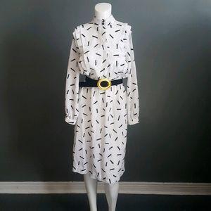Vintage Long Sleeved Midi Dress
